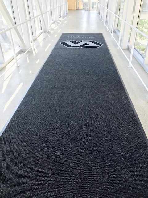 Logo mat runners for events